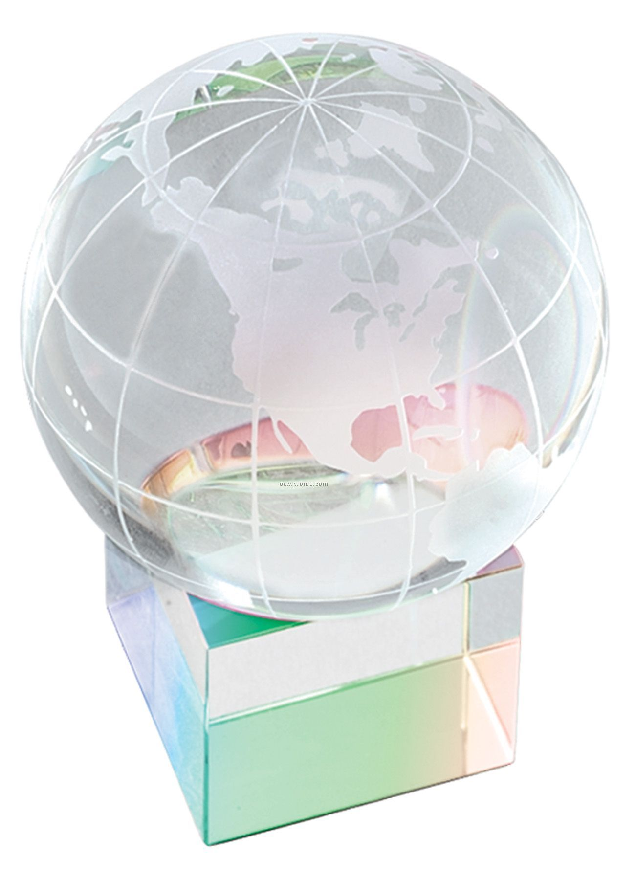 Prism Cube World Globe And Base