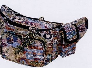 Solid Color Fanny Pack With Cell Phone Pocket