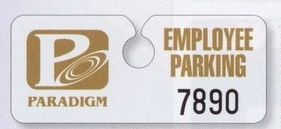 "Hidden Hang Tag Parking Permit (0.035"" Polyethylene)"
