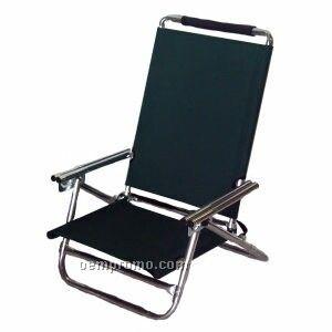 High Back Low Boy Beach Chair With Foam Headrest