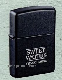 Matte Black Zippo Wind Resistant Lighter