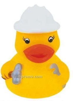 Mini Rubber Construction Worker Duck