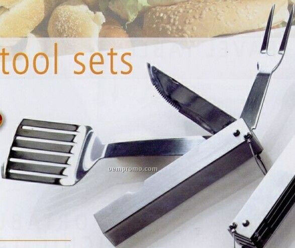 Picnic Plus Ember 3 Piece Folding Bbq Tool Set