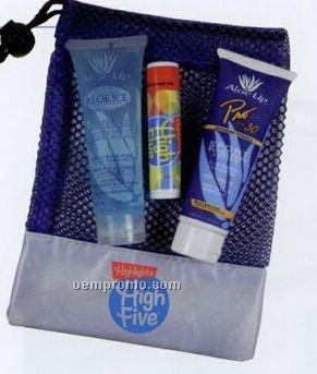 Small Mesh Bag W/ 3 Piece 1 Oz. Sun Essential Products