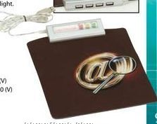 """USB Hub With Soft Top Mouse Pad (8-1/2""""X7"""")"""