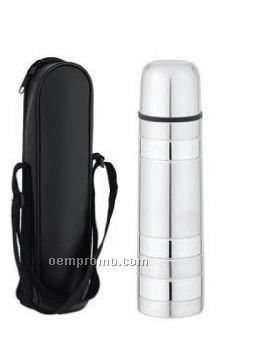 17 Oz. Thermos Bottle With Dull/ Shiny Finishes