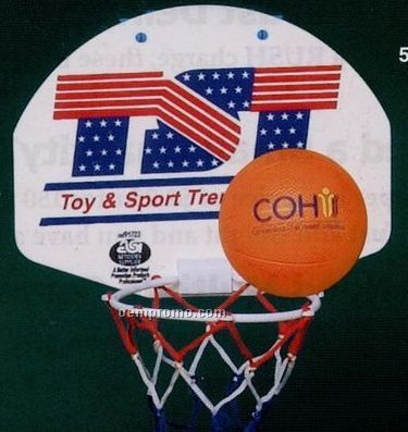 Basketball Backboard Hoop And Net