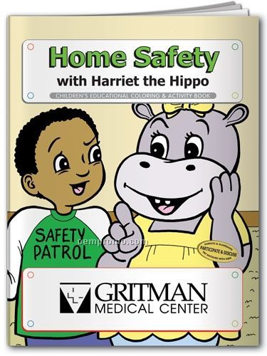 Fun Pack Coloring Book W/ Crayons - Home Safety With Harriet The Hippo