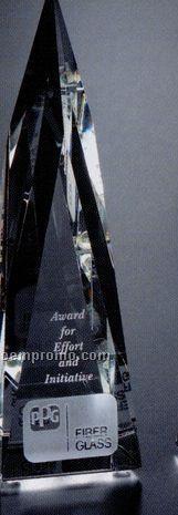 "Pristine Gallery Crystal Whittier Peak Award (8"")"