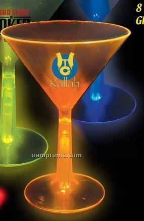 8 Oz. Martini Glass With Glow Base