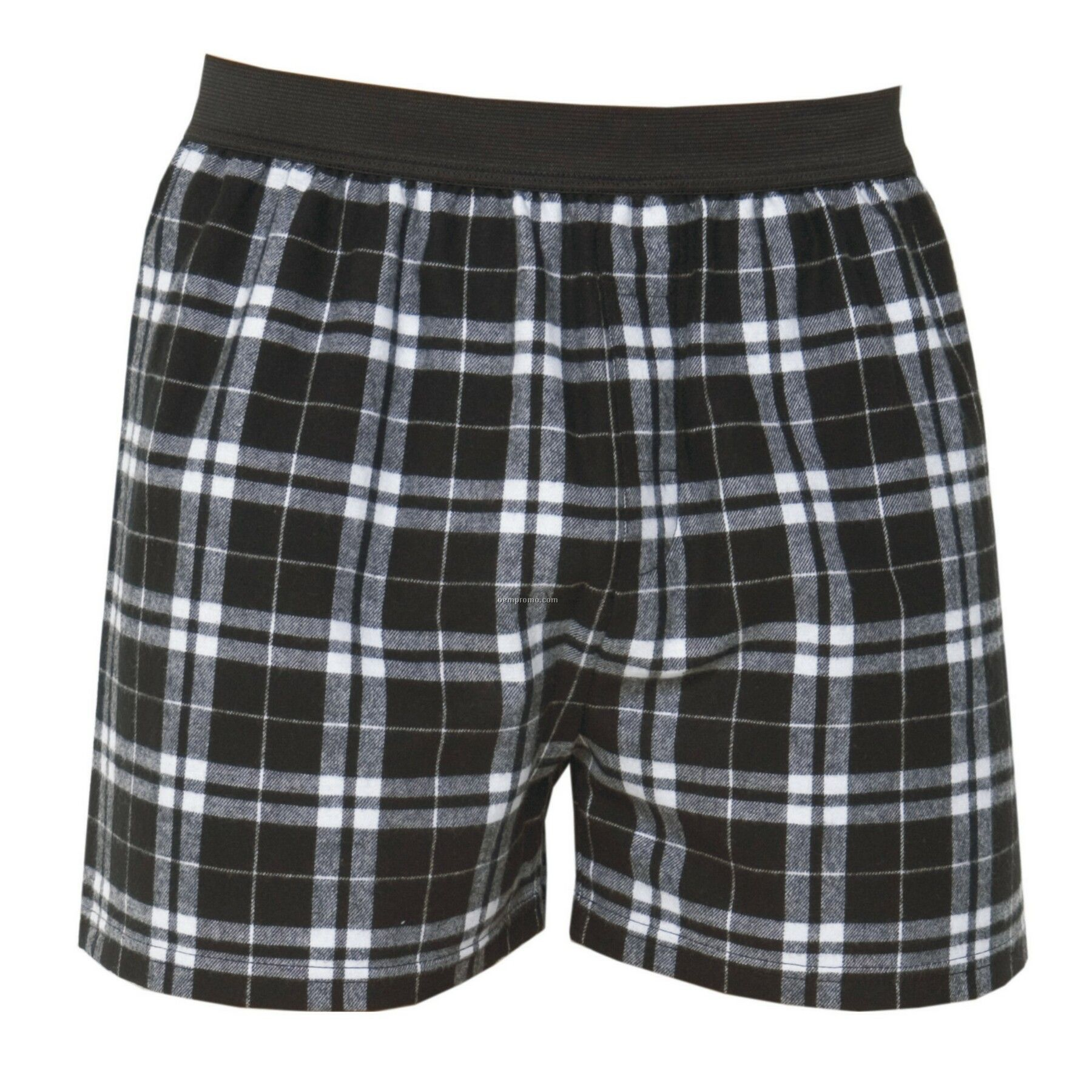 Adult Black/White Plaid Classic Boxer Short