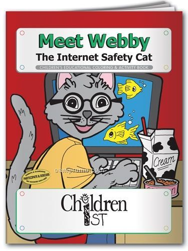 Coloring Book - Meet Webby The Internet Safety Cat