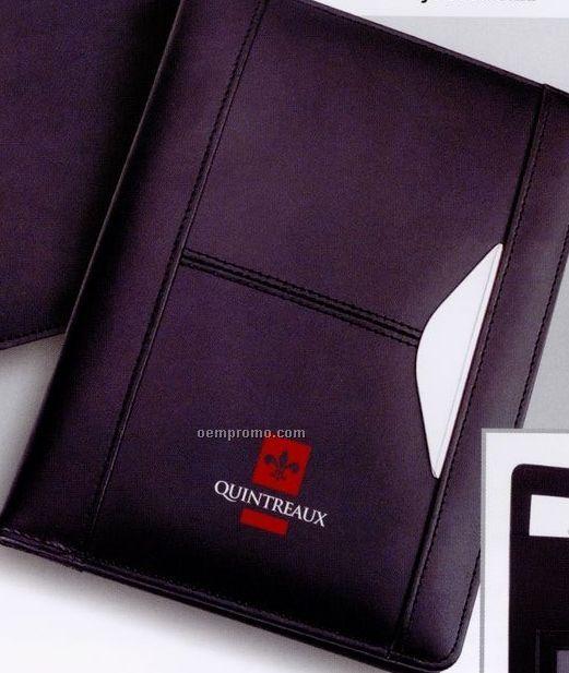 Jotter Size Bonded Leather Portfolio With Pad Holder & Inside Pockets
