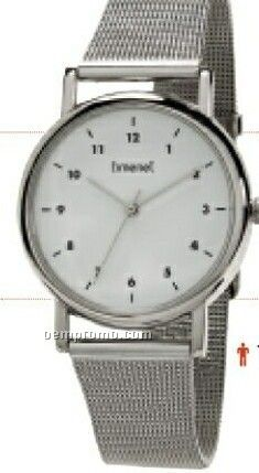 Metro Men's Silver Watch With Mesh Band