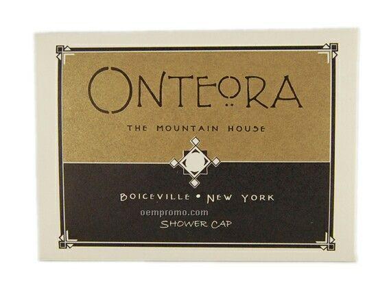 Shower Cap In White Or Cream Folder
