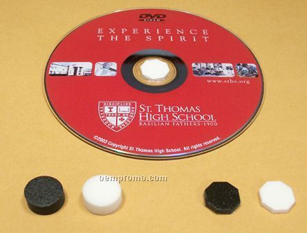 "Adhesive Backed 1/8"" Octagonal Foam Hub For CD/DVD"