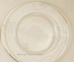 Elegance Turkish Glass Silver Rim Charger - Set Of 4
