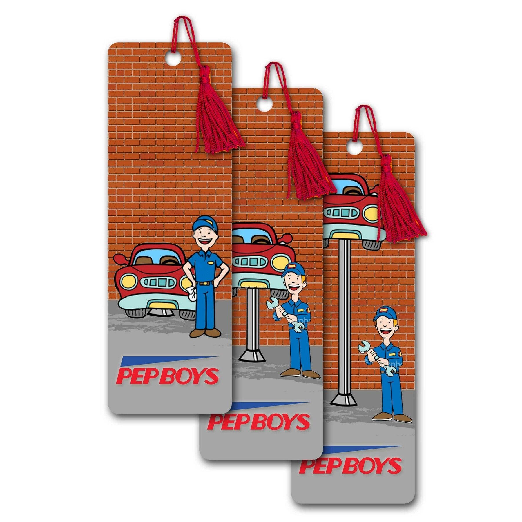 Pet Bookmark W/ 3d Lenticular Image Of An Animated Auto Body Shop (Imprint)