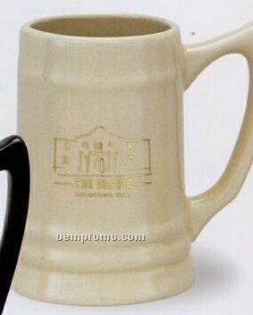 17 Oz. Natural Beige Ceramic Stein