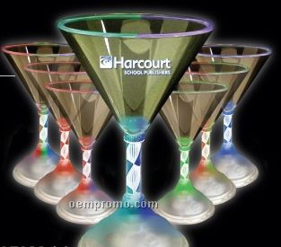 7 Oz. Light-up Martini Glasses With Frosted Base
