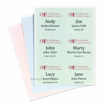 "Classic Stick On Name Tags - Stock Imprint (4""X3"")"