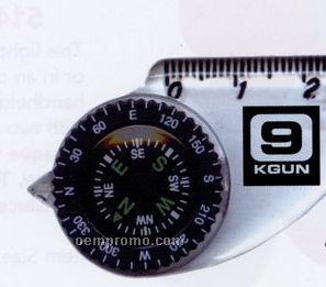 Compass & Map Ruler With Slip Keyring
