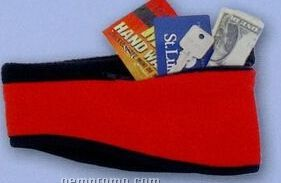 Premium Polar Fleece Shaped Head Band With Zip Pocket