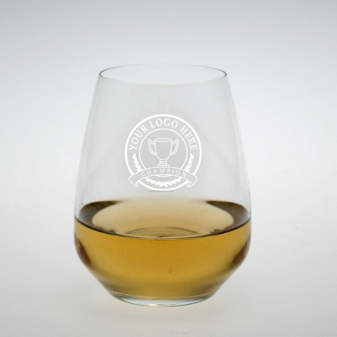Studio Stemless Riesling/ Sauvignon Blanc Glass (Set Of 4 - Deep Etch)