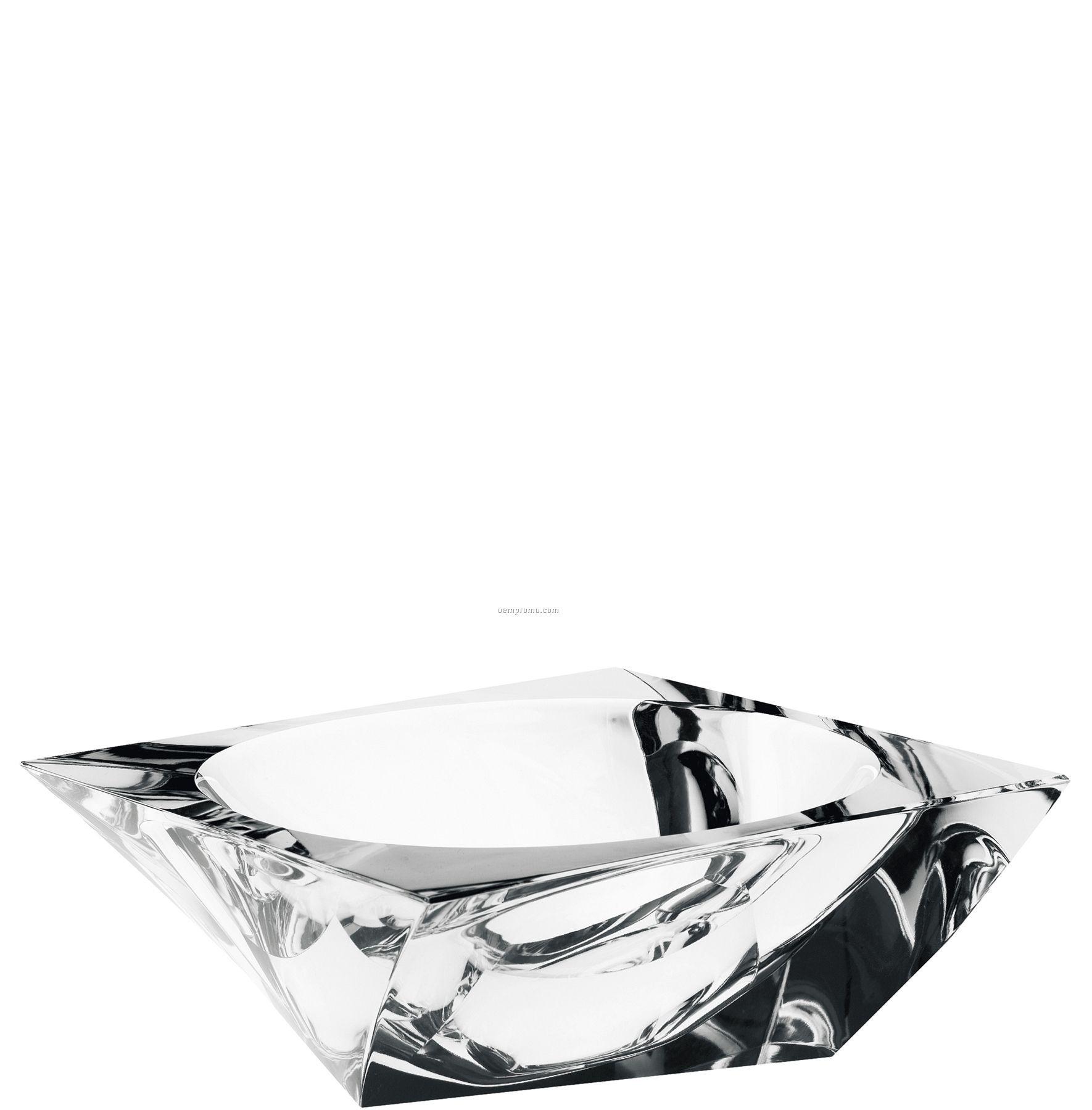 "Tornado Twisted Crystal Bowl By Jan Johansson (3""X8 5/8"")"