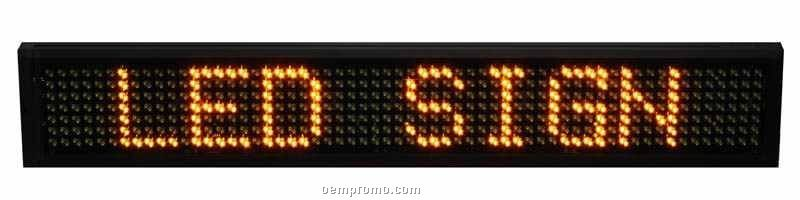"""38"""" Amber Semi-outdoor LED Sign"""