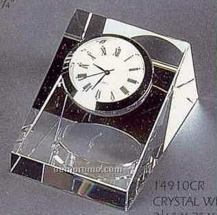Crystal Wedge Clock