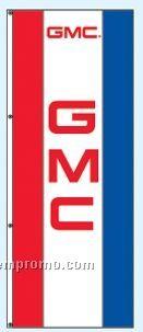 Double Face Dealer Free Flying Drape Flags - Gmc