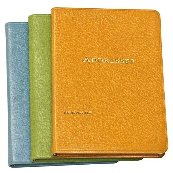 pocket address book w premium brights leather cover 5 38x7