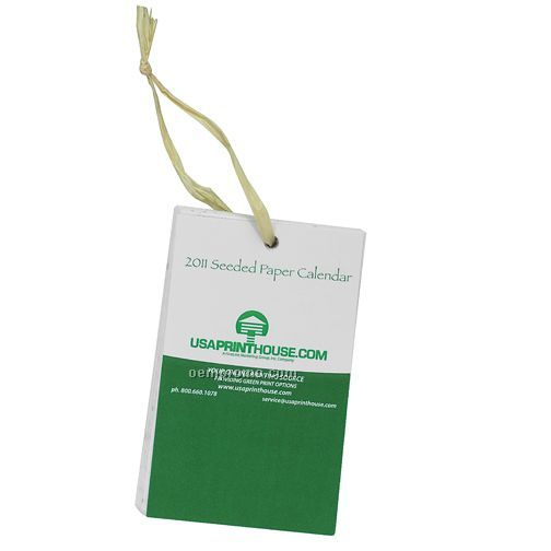Seeded Paper Calendar Cards