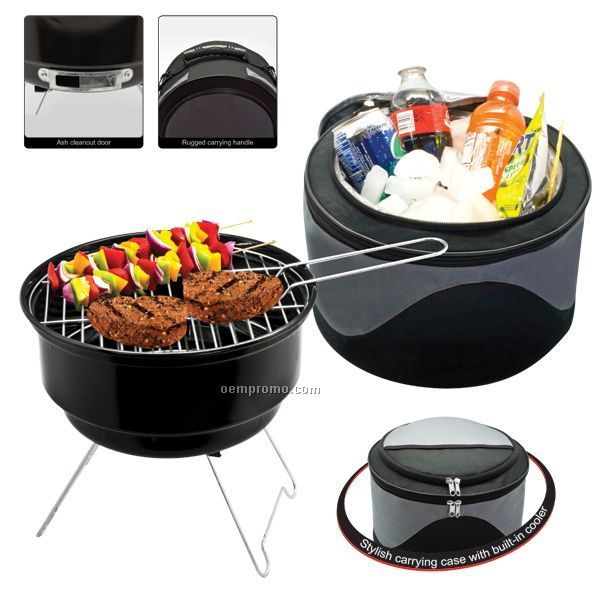 2-in-1 Cooler/Bbq Grill Combo