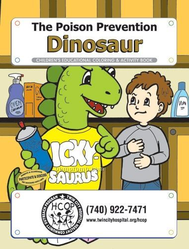 Action Pack Color Book W/ Crayons & Sleeve - The Poison Prevention Dinosaur