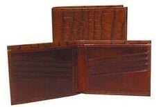 Burgundy Italian Leather Slim Billfold