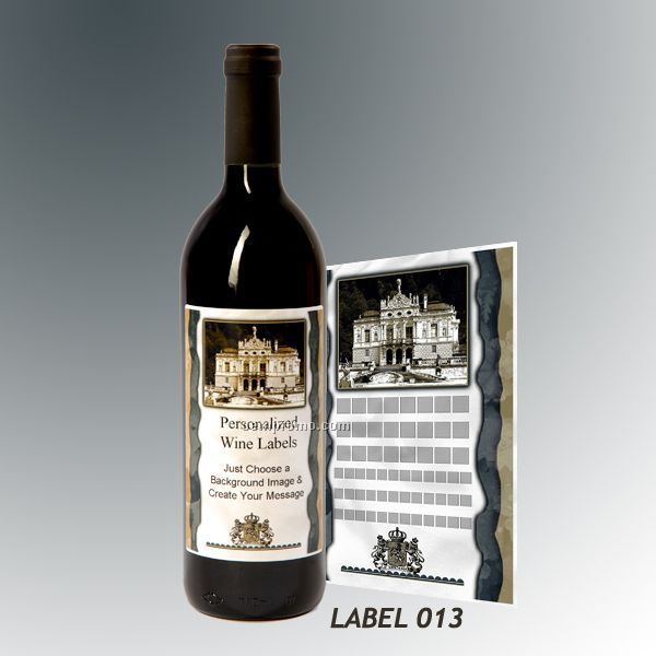 Custom Wine Gift With Personalized Stock Label - Estate Or Alpine Village
