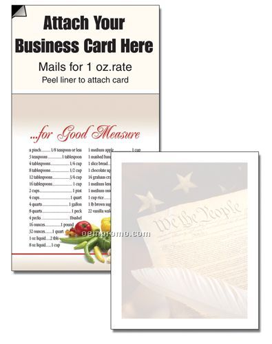 Designer Magnetic Business Card Note Pad - We The People