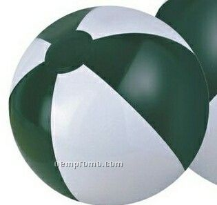 """12"""" Inflatable Forest Green & White Beach Ball"""