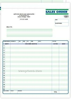 3 Part Invoice Formatted Snap Set