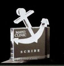 Acrylic Paperweight Up To 16 Square Inches / Anchor In Square