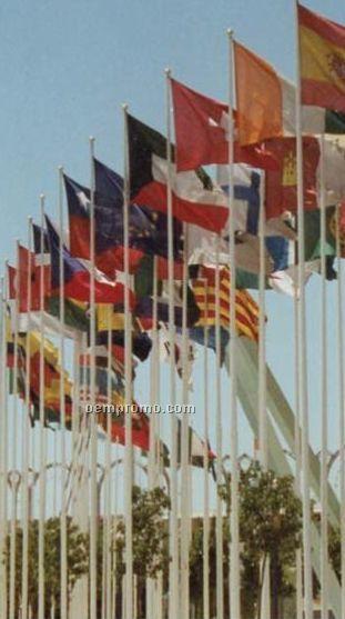 Annin Alliance Fiberglass External Ground Set Flagpole (40')