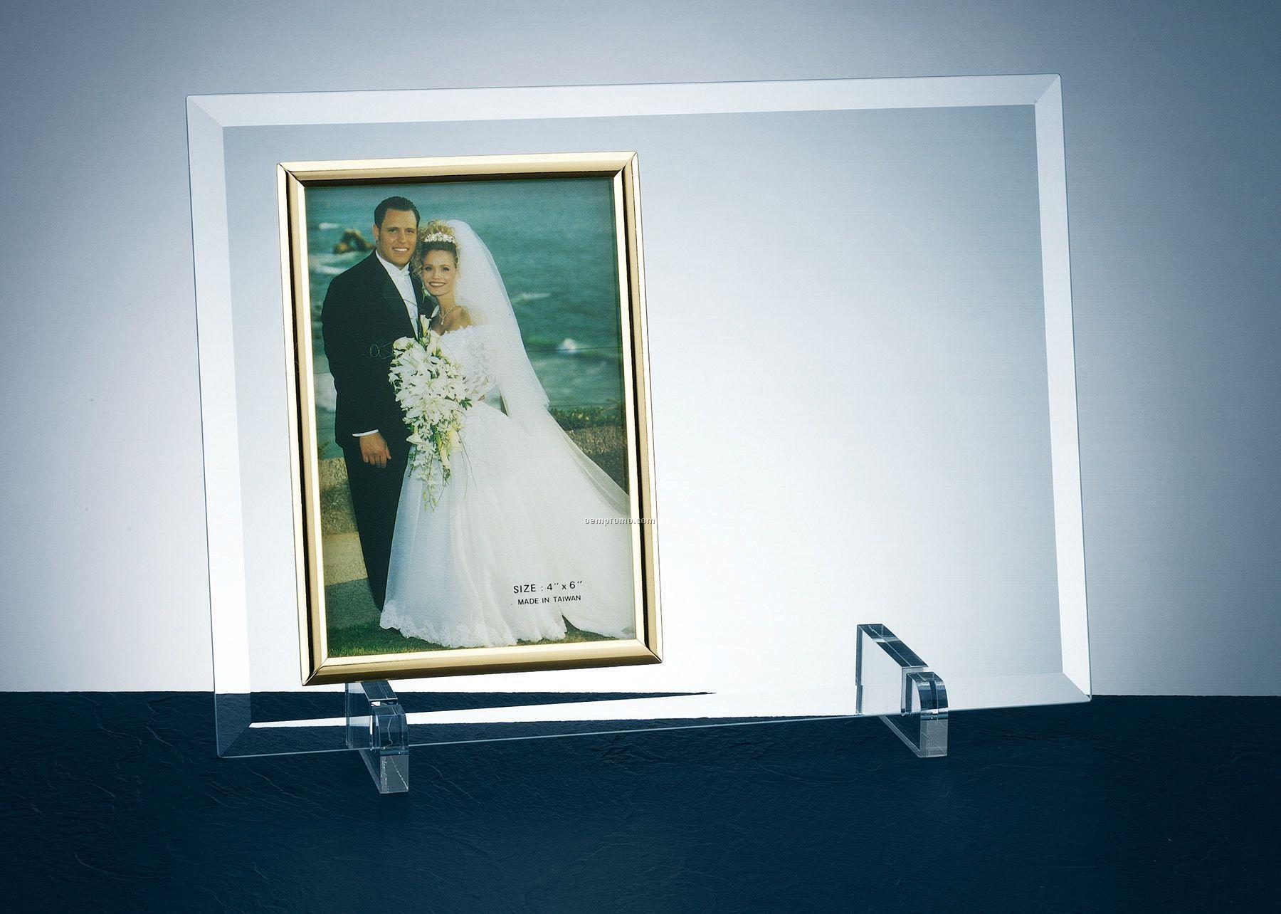 "Curve Jade Glass Frame & Stand (8""X10"" Photo)"