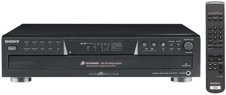 Sony 5 Disc Changer CD Player