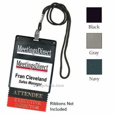 "Vinyl Name Tag Pouch W/ Slot - 1 Color (4 3/8""X5 1/2"")"