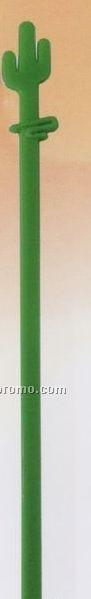"6"" Saguaro Cactus Stirrer (Blank)"