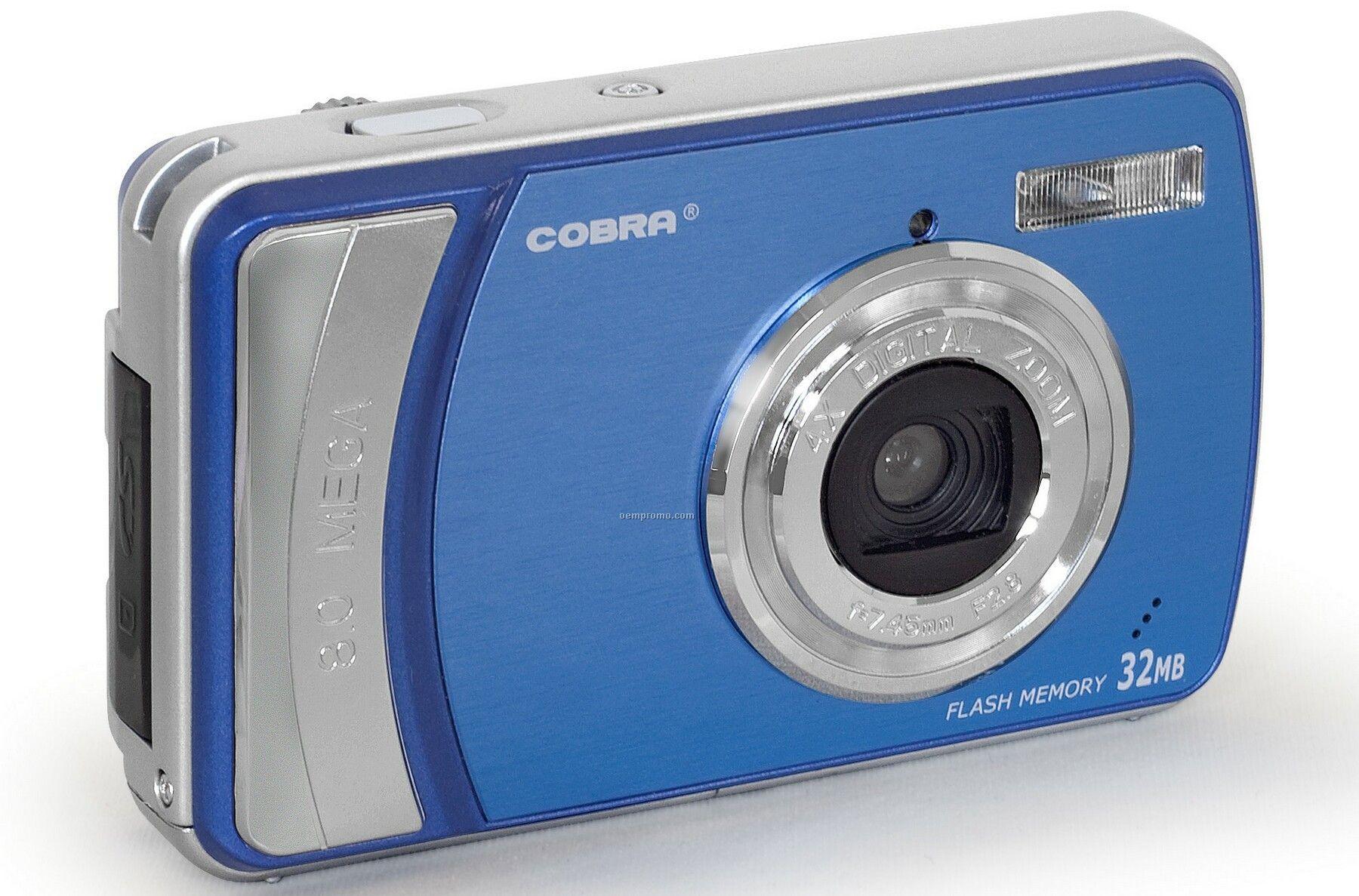 "Blue Digital Camera With 2.5"" Color Screen"