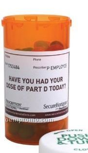 Empty Large Amber Pill Bottle (2 Day Service)