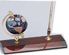 Gemstone Globe Pen Stand